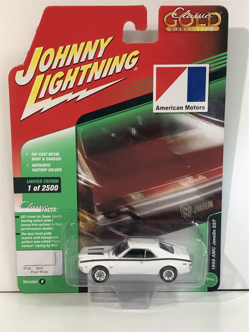 1968 AMC Javelin SST Frost White 1:64 Scale Johnny Lightning JLCG015B