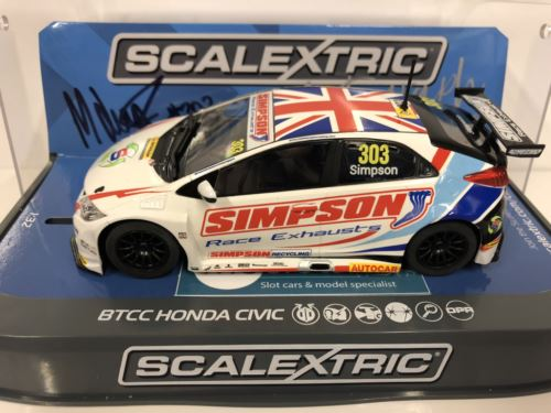 Scalextric C3915AE Autograph Series Matt Jordan BTCC Honda Civic 2017 New