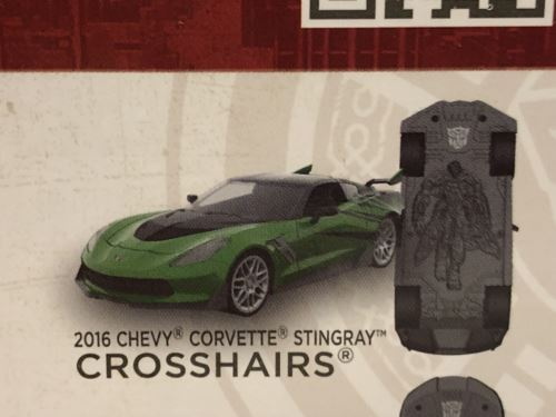 Transformers 5 Crosshairs 2016 Chevy Corvette 1:32 Scale Jada