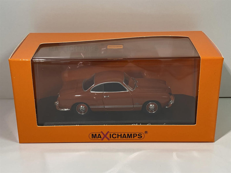 Maxichamps 940051020 VW Karmann Ghia Coupe 1955 Red 1:43 Scale