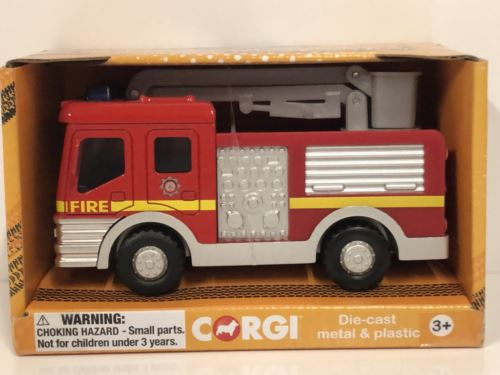 Corgi CHUNKIES CH032 Fire Crane Truck U.K.Diecast and Plastic Toy