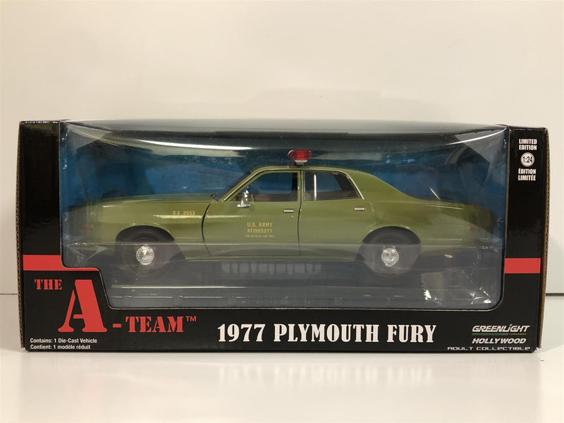 The A Team 1977 Plymouth Fury 1:24 Scale Greenlight 84103