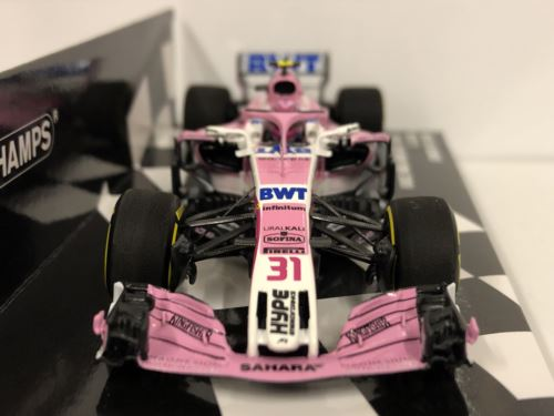 Minichamps 417180031 Sahara Force India 2018 E Ocon 1:43 Scale New