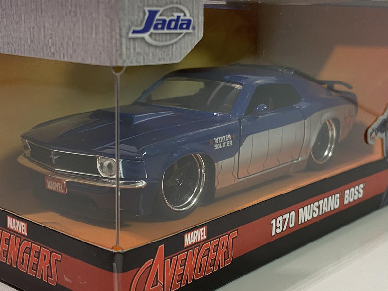Winter Soldier Avengers 1970 Mustang Boss 1:32 Scale Jada 31745