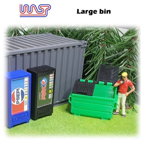 Track Side Scenery Slot Car Displays 3 x Blue Bins 1:32 Scale New WASP
