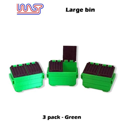 Track Side Scenery Slot Car Displays 3 x Green Bins 1:32 Scale New WASP