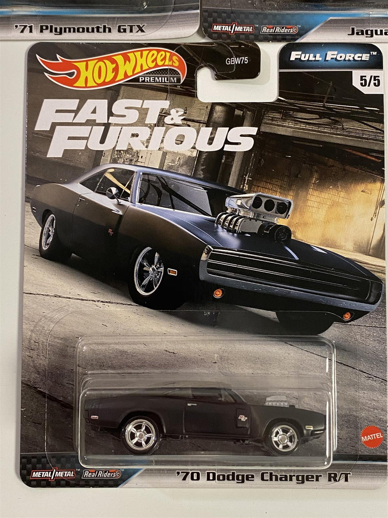 Fast and Furious Real Riders 5 Car Set Full Force Hot Wheels GB75-979G