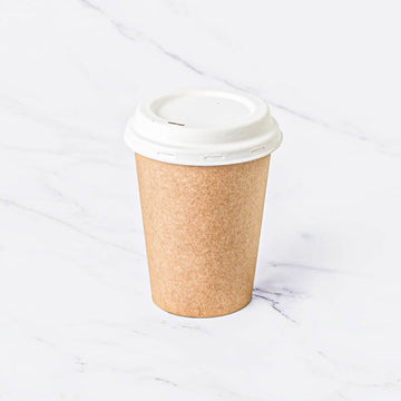 Bamboo Pulp Coffe Cup and Bagasse Lid 13 Oz