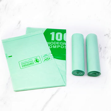"Biodegradable and compostable ""PLA"" Garbage bags 10 pcs for roll 170L"
