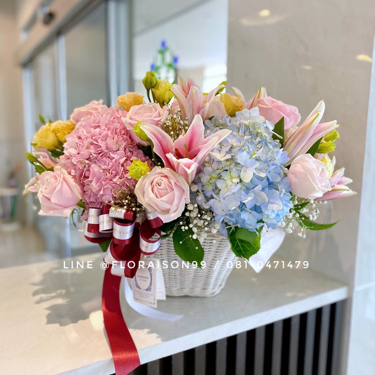 Sweet flower basket