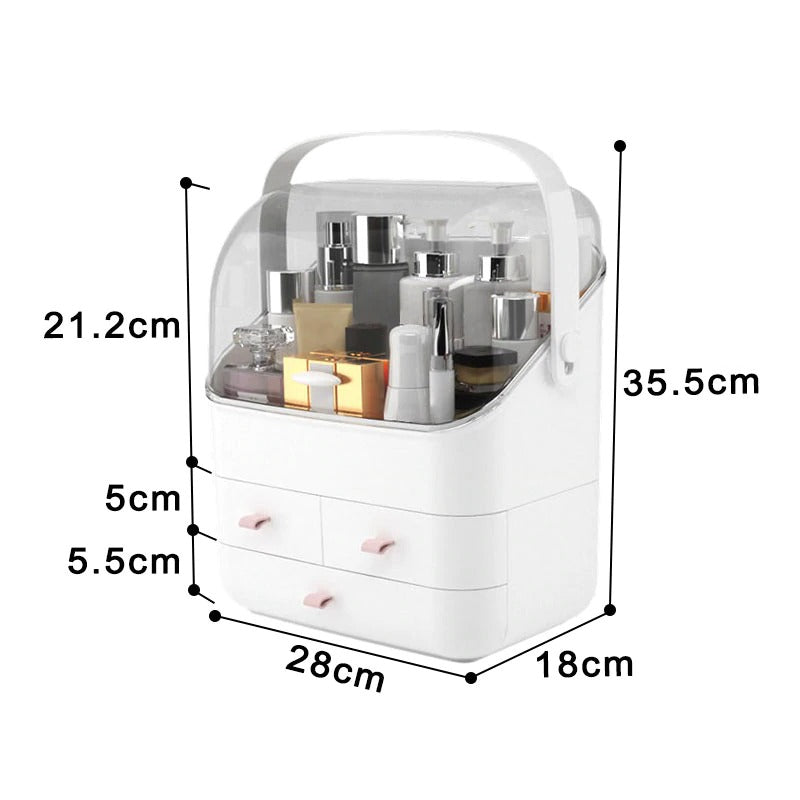 Large Cosmetics & Jewelry Storage Organizer Box Dimensions