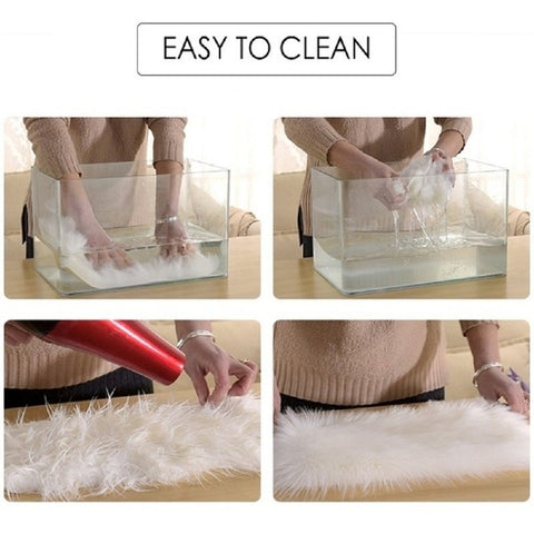 Easy to clean Sheepskin Fur Area Rug