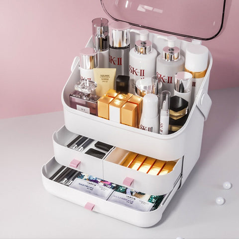 Large Cosmetics & Jewelry Storage Organizer Box