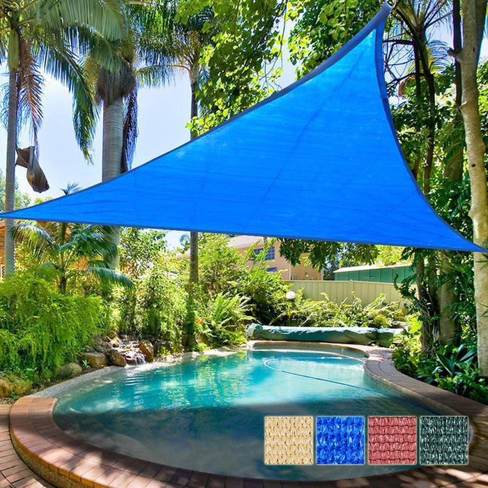 16.5ft Patio Triangle Sun Sail Shade Canopy  Color Optional UV Protection Canopy