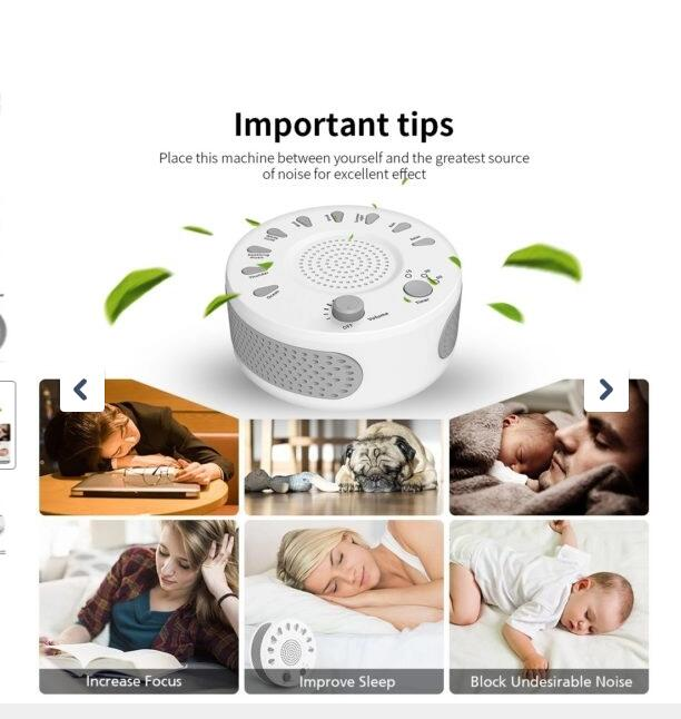 SweetSleep™ - Noise Machine With 9 Baby Sleep Sounds - Tazooly