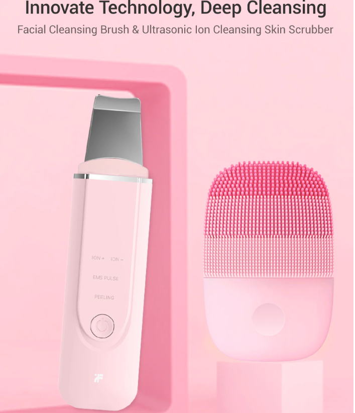 Inface Facial Cleansing Brush & Ultrasonic Ion Cleansing Skin Scrubber - Tazooly