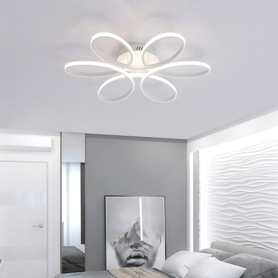 Aluminum LED Ceiling Light Lamp Bedroom Dimmable Home Fixture - Tazooly