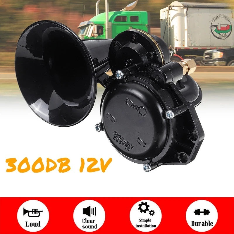 300DB Electric Train Horn Trumpet For Trucks, Cars, SUVs, Boats, And Motorcycles - Loud Air Horn - Tazooly
