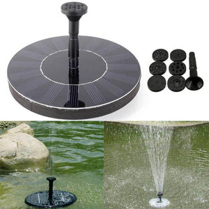 7V Solar Power Floating Brushless Water Pump Garden Landscape Submersible Fountain - Tazooly