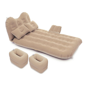 Car Travel Inflatable Air Mattress Back Seat Portable Camping Bed Cushion with Back Support - Tazooly