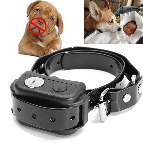 Rechargeable Waterproof Pet Dog Training Bark Stop Collar Ultrasonic Wave Control - Tazooly