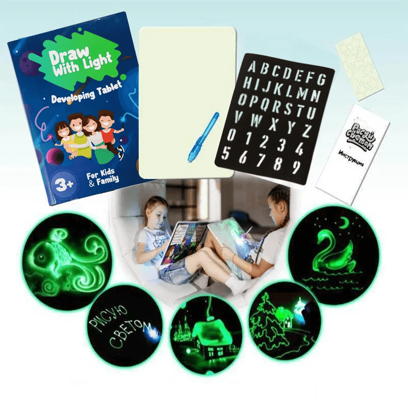 Magic Light Drawing Kit - Fun And Developing Toy