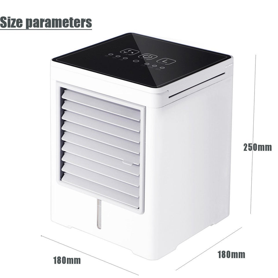 Mini Air Conditioner Water Cooling Fan Touch Screen Timing Arctic Cooler Humidifier - Tazooly