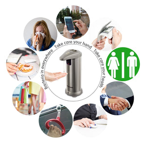 Stainless Steel Touchless Automatic Soap Sanitizer Dispenser - Tazooly
