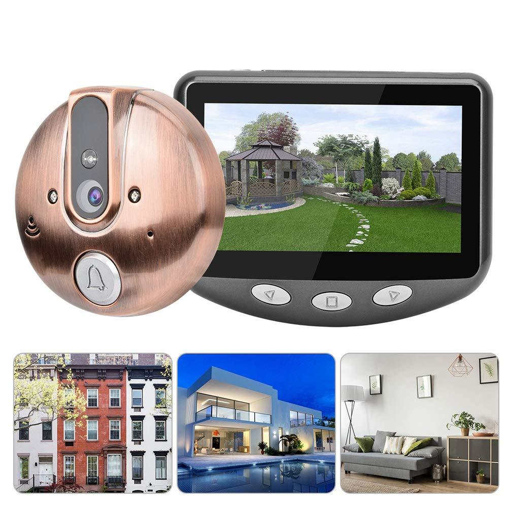 4.3 Inch LCD TF Card Smart  Peephole Viewer Door Eye Night Vision Camera DoorBell - Tazooly