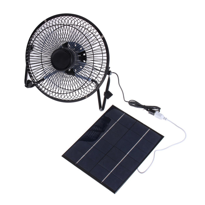 Ultra-quiet Mini Solar Panel Fan For Outdoor Camping - Tazooly