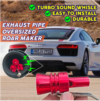 Exhaust Pipe Oversized Roar Maker Car Auto Exhaust Pipe Loud Whistle Sound - Tazooly