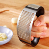 Multi-function Manual Garlic Presser Curved Garlic Grinding Slicer Chopper Stainless - Tazooly