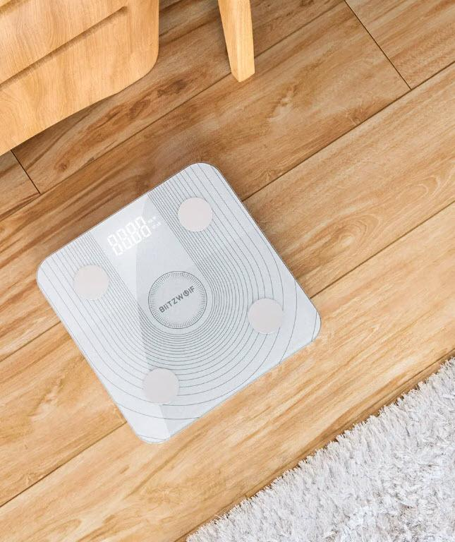 BlitzWolf™ Smart Scale, Best Smart Weight Scale For Accurate Tracking of Health With 13 Different Body Metrics. - Tazooly
