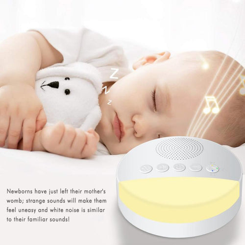 White Noise Sound Machine - Portable Sleep Sound Machine for Baby, Home, Office - Tazooly