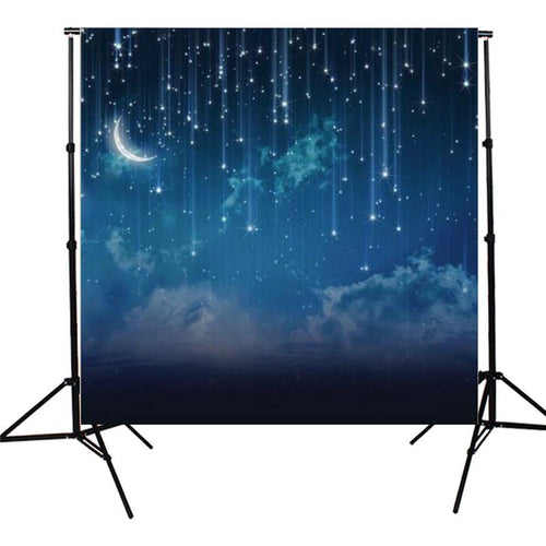 10x10FT Backdrop Banner - Sky Star River Moon Night Vinyl Photographic Background Banner - Tazooly