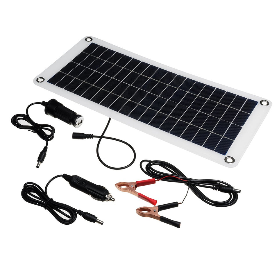 12W 18V Polysilicon Home Solar Power Panel Kits Battery Charger Charging - Tazooly