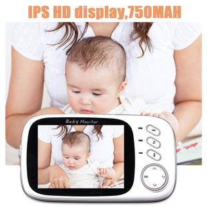 BabyMonitor™ Wireless Baby Video Monitor With 2 Way Audio System and 3.2 inch Color LCD - Tazooly