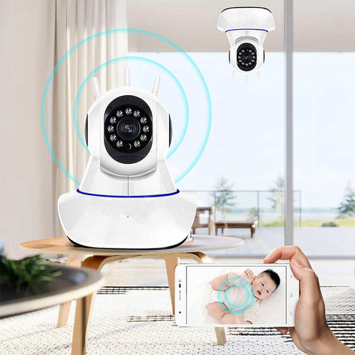 1080P 11 LED Wireless Security Camera With Two-way Audio, Wifi, HD Color, and Night Vision - Tazooly