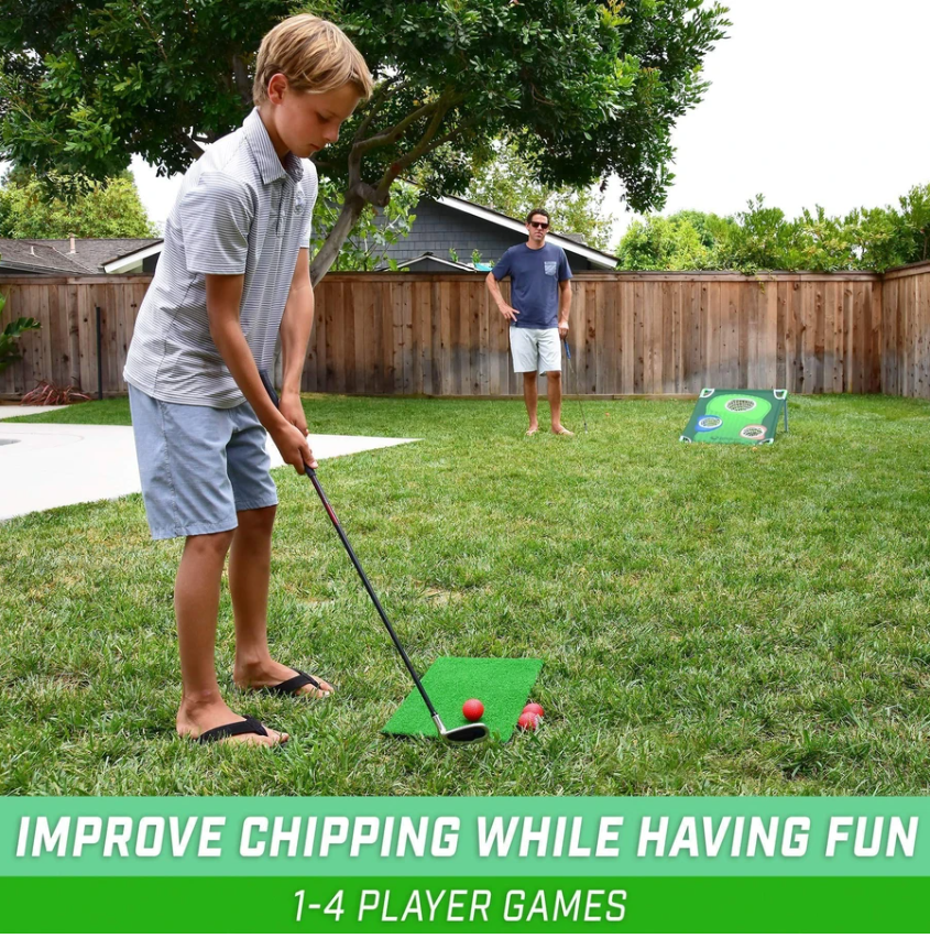 Best Father's Day Gift Outdoor Golf Game Foldable Chipping Net Cornhole Golfing Target Net For Game Training - Tazooly