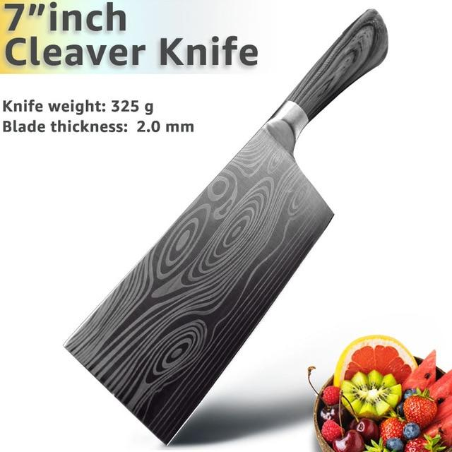 3PC Professional Stainless Steel Knives Set