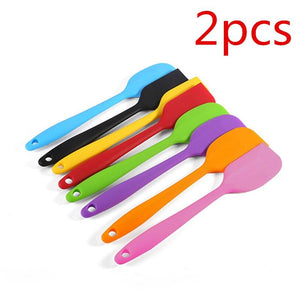 2pcs Kitchen Silicone Baking & Pastry Spatulas