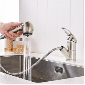 Ellis - Deck Mounted Pull Out Copper Kitchen Faucet