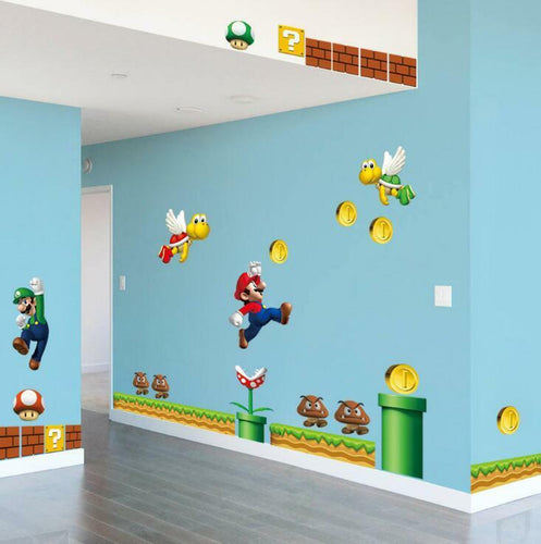 Super Mario Bros Removable Wall Stickers Decal