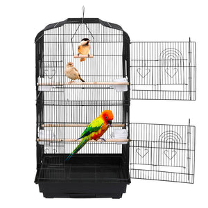 59'' Rolling Bird Cage with Stand