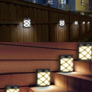 Waterproof 6LED Solar Lights Motion Sensor Wall Light Outdoor Garden Yard Lamp