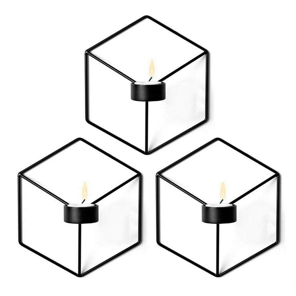 3D Geometric Wall Mounted Candle Holder
