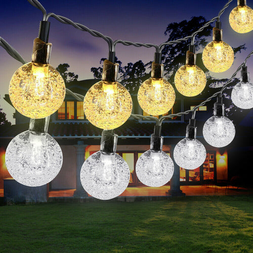30 Outdoor Solar LED String Lights - 21 FT