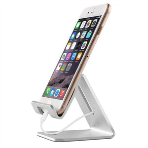 Aluminium Alloy Anti-slip Universal Cell Phone/Tablet Desktop Stand Holder