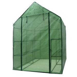Portable Greenhouse, Mini Walk In Outdoor Planter House With 8 Shelves 3 Tiers
