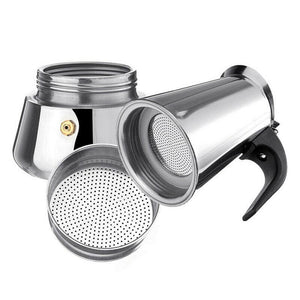 Stainless Steel Portable Espresso Machine - Tazooly